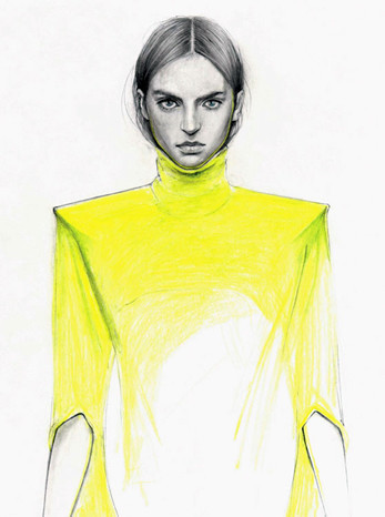 Fashion illustrations by Cedric Rivrian. Изображение № 6.