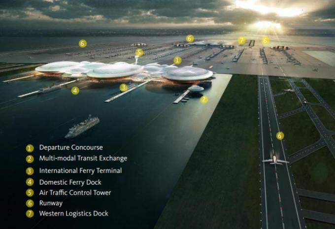 Аэропорт Лондона могут построить в устье Темзы. Изображение № 1.