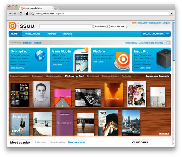Лучшие журналы месяца на Issuu.com. Изображение № 1.