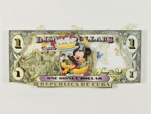 Картины и коллажи из денег Родриго Торреса. Изображение № 16.
