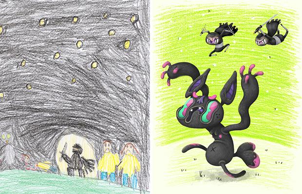 Художники создали монстров наоснове детских рисунков. Изображение № 47.