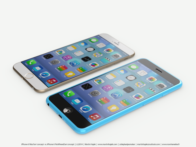 Концепт смартфонов iPhone 6s и 6c авторства Мартина Хайека (martinhajek.com). Изображение № 1.