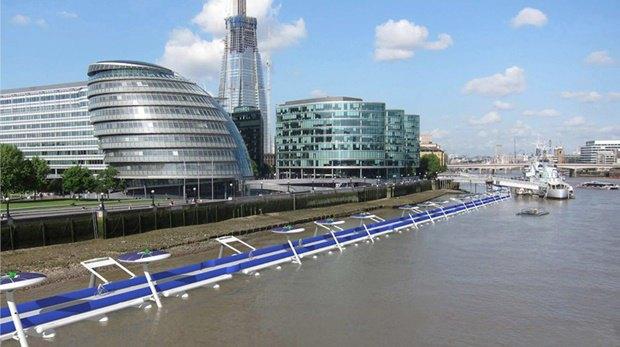 В Лондоне планируют построить плавучую велодорожку. Изображение № 1.