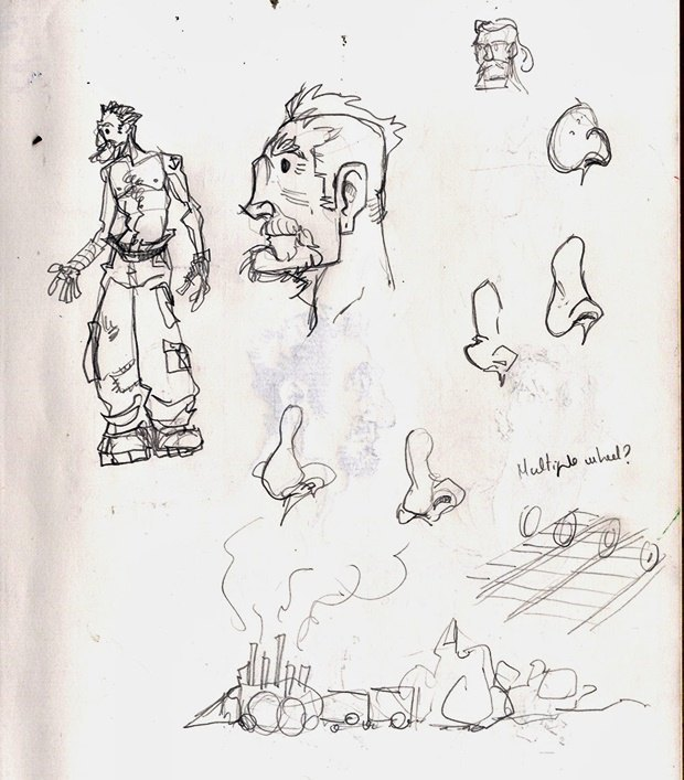 Анимация: бродяга спасает пса встимпанковском городе. Изображение № 1.