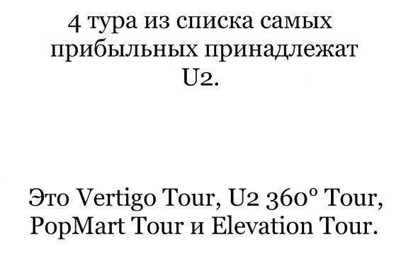 X больше Y - 2 самых прибыльных рок-турне. Изображение № 23.