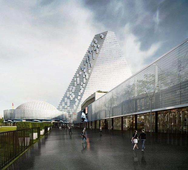 В Париже согласились строить небоскрёб-треугольник. Изображение № 7.