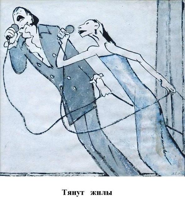 Леонид Сойфертис. рисунок, карикатура. Изображение № 36.