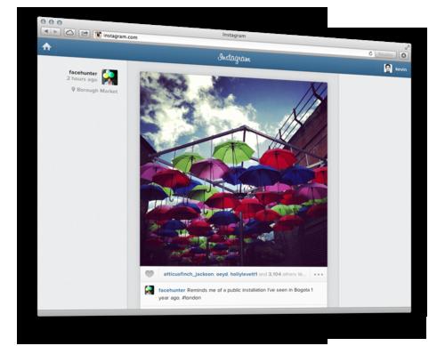 Ленту Instagram можно смотреть прямо в браузере. Изображение № 1.