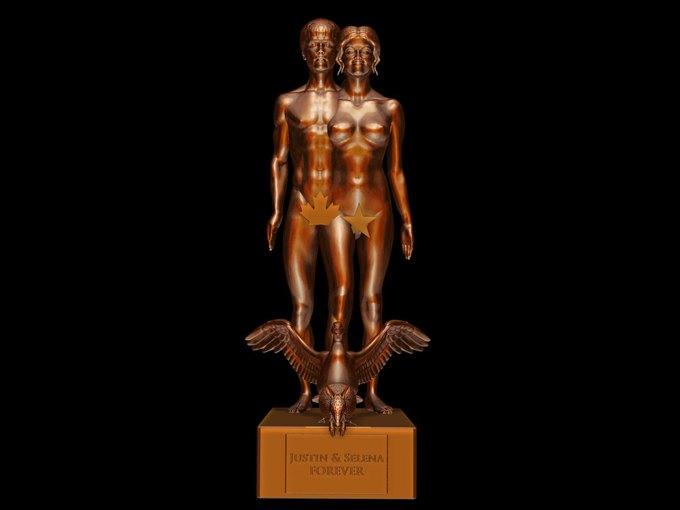 Скульптура с Джастином Бибером и Селеной Гомез. Изображение № 4.