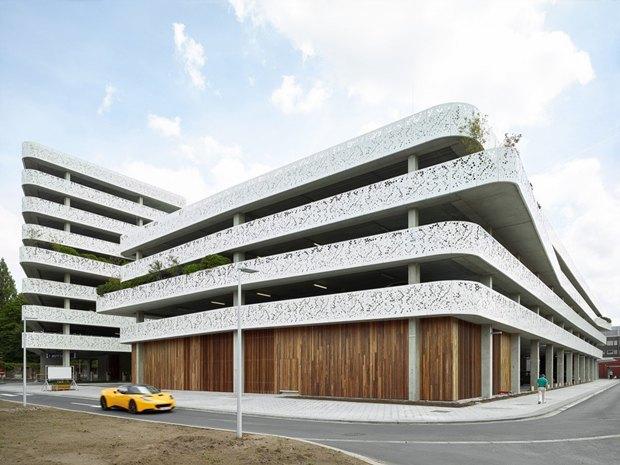 Архитектура дня: парковка сперфорацией вБельгии. Изображение № 1.