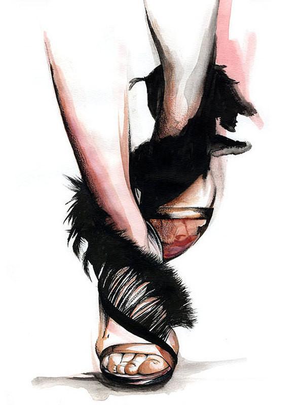 Изображение 26. Акварельные иллюстрации Caroline Andrieu.. Изображение № 26.