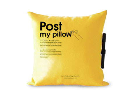 Post My Pillow: подушка для записей. Изображение № 1.