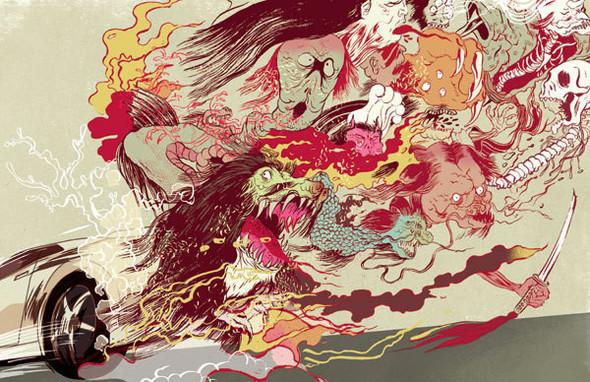 Рисунки американского иллюстратора Марко Шина.. Изображение № 7.
