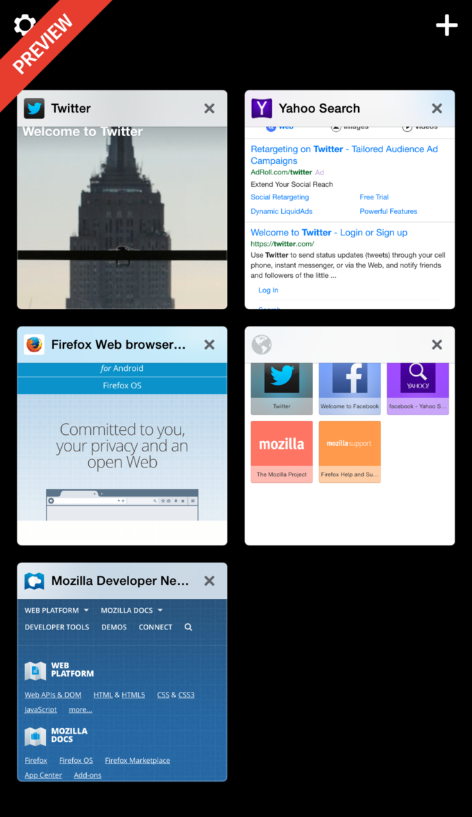Mozilla выпустила превью Firefox для iOS . Изображение № 2.
