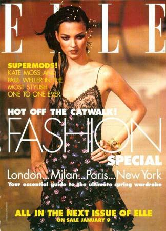 Кейт Мосс, наобложках главных модных журналов планеты. Изображение № 14.