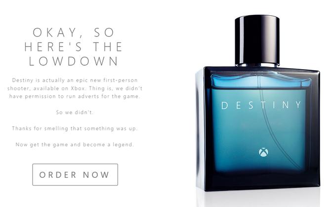 Microsoft рекламирует Destiny c помощью духов. Изображение № 1.