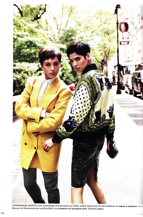 Съёмка: Хана Бен Абдесслем и Валерия Келава для Vogue. Изображение № 5.