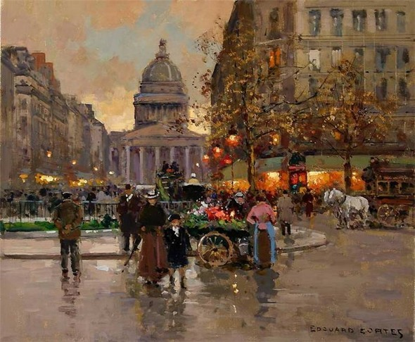 Эдуард Леон Кортес. Перенесёмся в Париж. Изображение № 20.