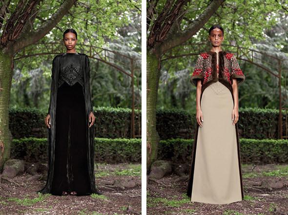 Кутюр в деталях: Маски, бисер и кожа в коллекции Givenchy. Изображение № 22.