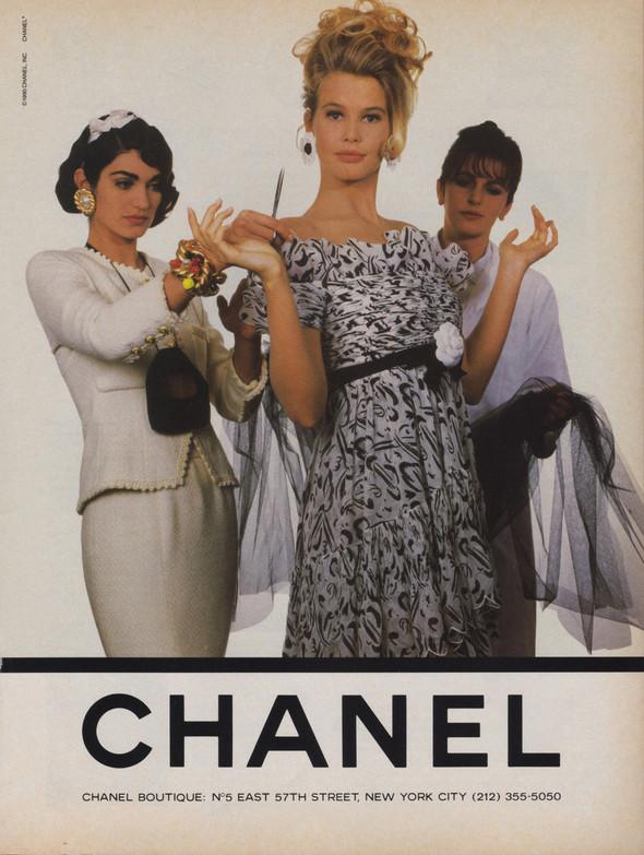 Архивная съёмка: Рекламная кампания Chanel SS 1990. Изображение № 7.