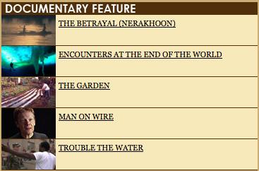 Номинанты на«Оскар» 2009. Изображение № 6.