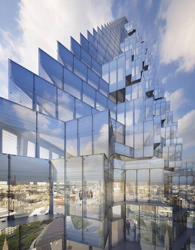 В Париже согласились строить небоскрёб-треугольник. Изображение № 11.