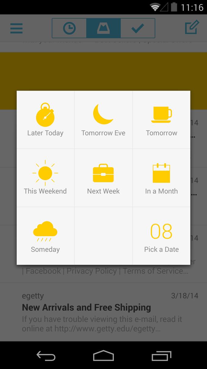 Почтовое приложение Mailbox вышло для Android. Изображение № 6.