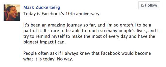 Социальная сеть Facebook отмечает 10-летие. Изображение № 5.