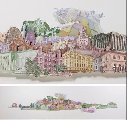 Картины и коллажи из денег Родриго Торреса. Изображение № 4.