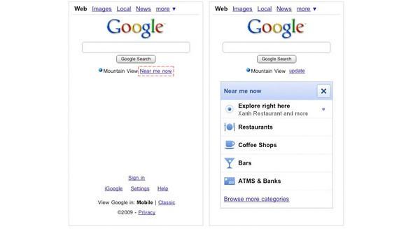 Новый сервис Google «Near Me Now». Изображение № 1.