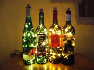 Новогодние украшения из винных бутылок. Изображение № 9.