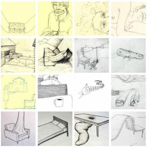 Рисунки Майкла Бейтца, эскизы настоящих и будущих инсталяций.. Изображение № 1.