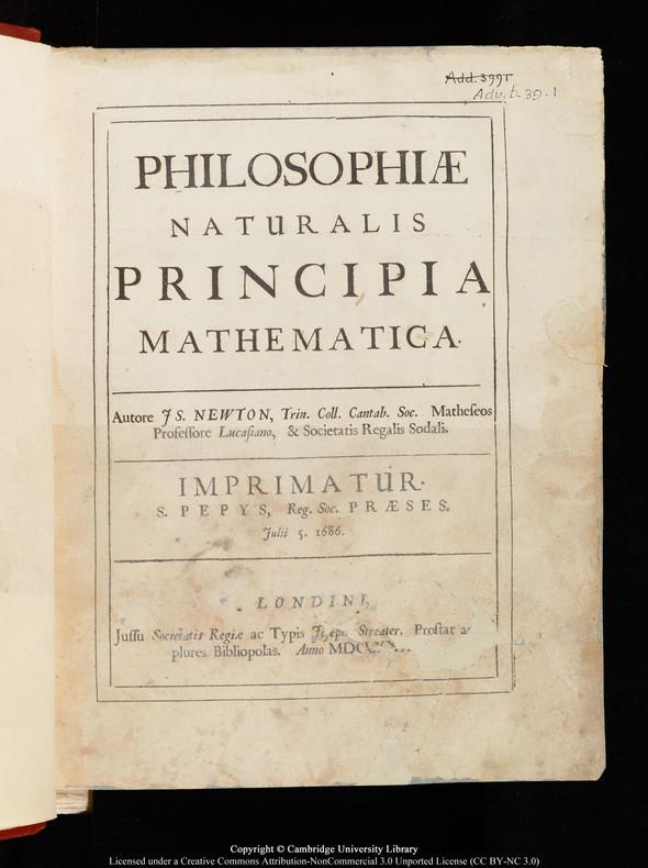 """Черновики Ньютона и первое издание """"Начал"""" выложены в сеть. Изображение № 6."""