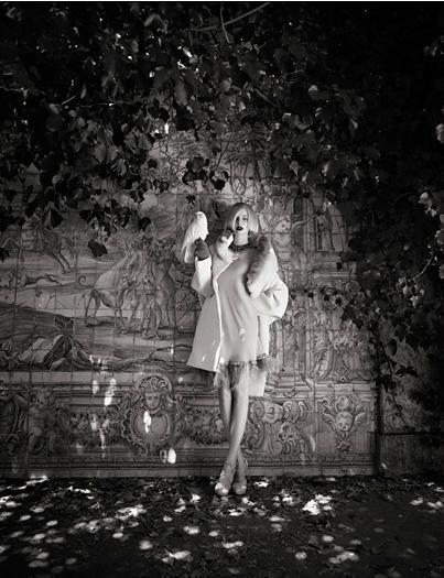 Съёмка: Аугусте Абелюнайте для Vogue. Изображение № 5.