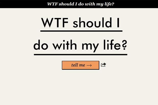 Сайт дня: как выбрать новое дело в жизни в два клика. Изображение № 1.