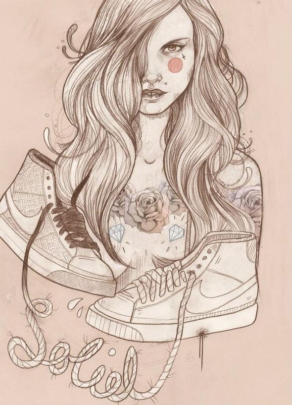 Карандашные рисунки художницы из Лондона Liz Clements.. Изображение № 14.