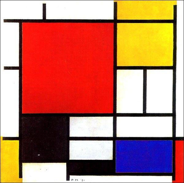 «Композиция с красным, синим и желтым» Пита Мондриана. Изображение № 9.