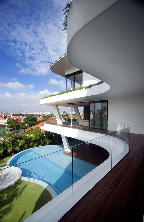 «Трехпалубная» вилла от Aamer Architects. Изображение № 4.