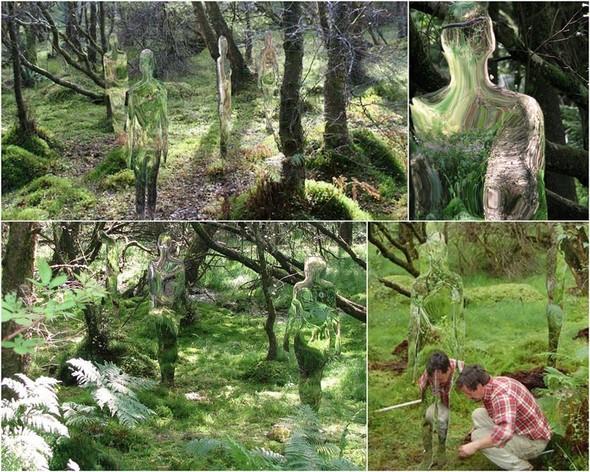 Скульптуры-призраки в шотландском лесу. Изображение № 2.