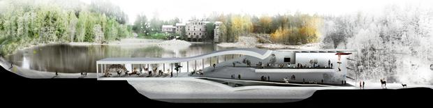 Архитектура дня: «перекрученный» музей авторства BIG под Осло. Изображение № 11.