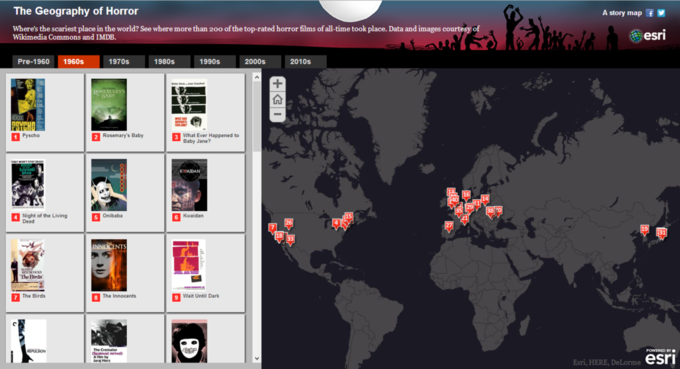 Создана интерактивная карта хорроров