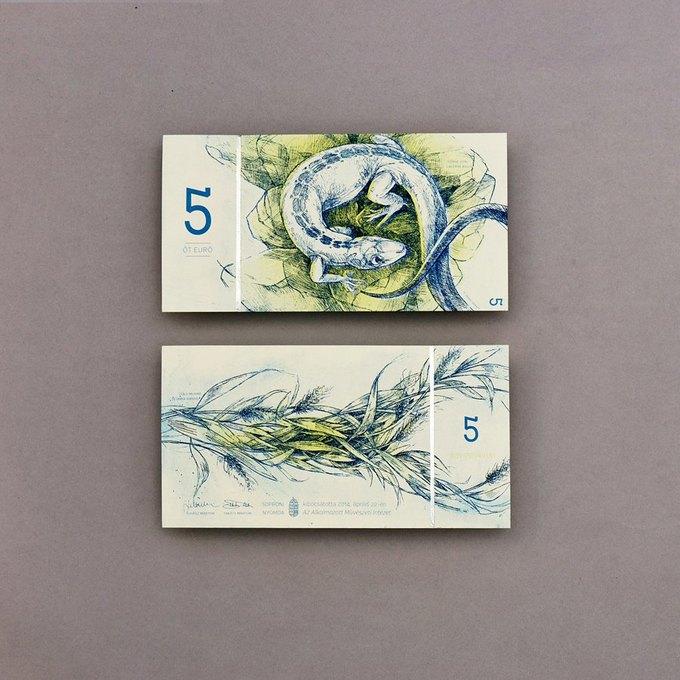 Концепт дня: банкноты несуществующих венгерских евро. Изображение № 4.