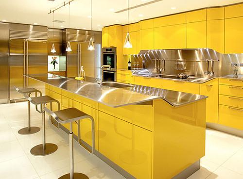 Современная желтая кухня фирмы Snaidero. Изображение № 4.