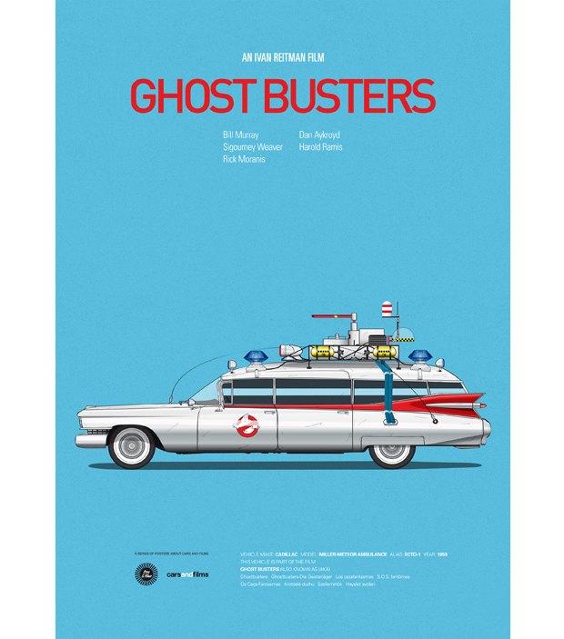Хиты Голливуда представлены в постерах с культовыми авто . Изображение № 5.