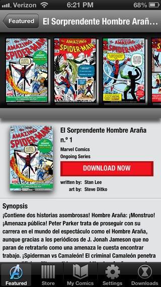Версия приложения Marvel Global Comics для iPhone. Изображение № 5.