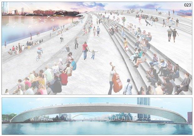 Выложены 74 проекта нового моста через Темзу. Изображение № 21.