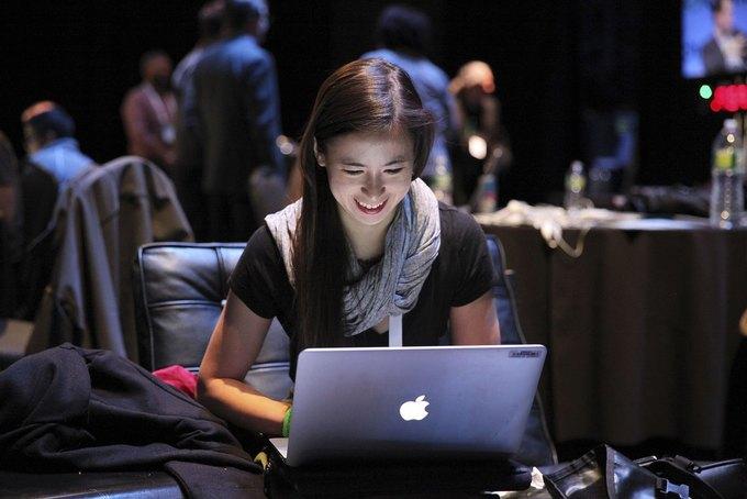 Ким-Май Катлер на одном из мероприятий TechCrunch. Изображение № 1.