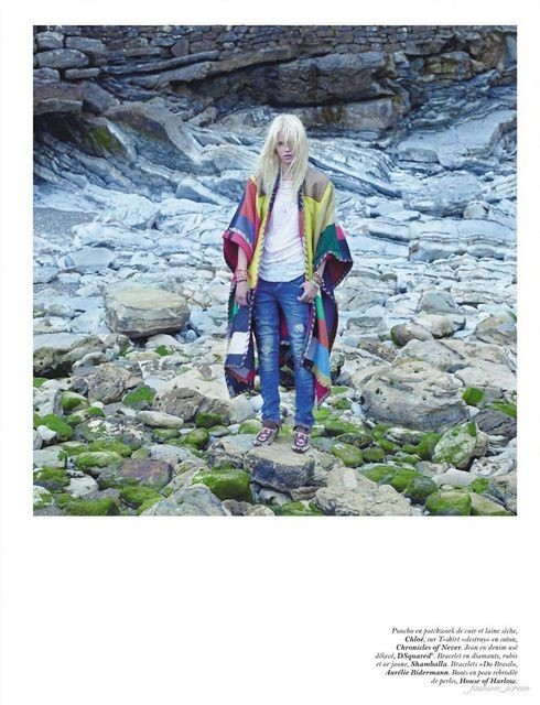 Съёмка: Саша Пивоварова и Наташа Поли для французского Vogue. Изображение № 13.