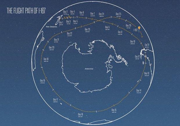 Воздушный шар Google облетел вокруг света за 22 дня. Изображение № 1.