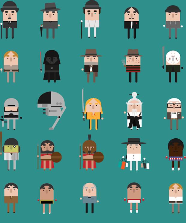Минутная анимация связала 17 героев классических фильмов. Изображение № 1.